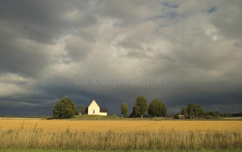 dramatyczne krajobrazowi szwedzki niebo obrazy royalty free