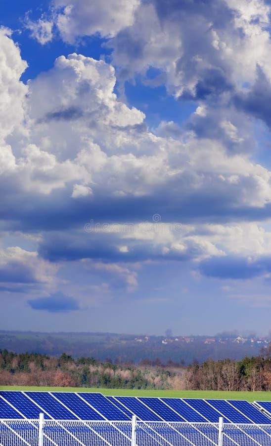 dramatycznego rośliny władzy nieba słoneczny poniższy zdjęcie stock