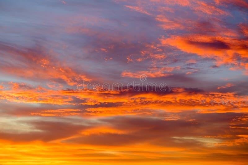 Dramatyczny Chmurny wschód słońca nad Waddington fotografia royalty free