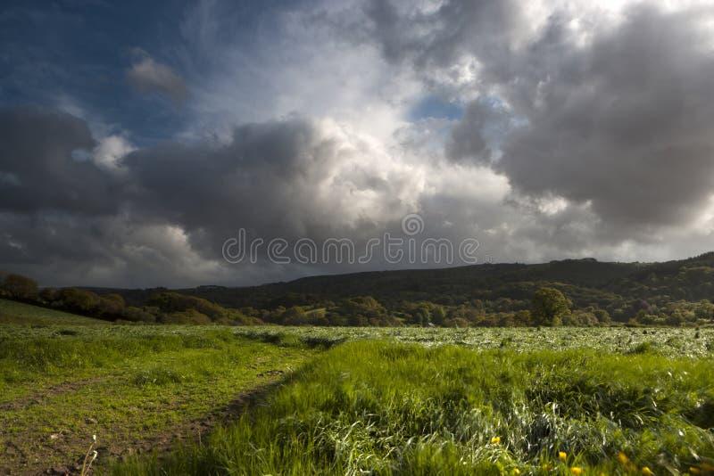 Dramatyczny niebo zdjęcie stock