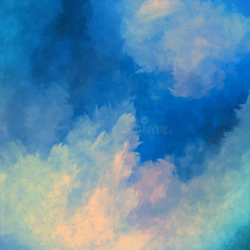 Dramatyczny niebo obrazu wektoru tło ilustracja wektor