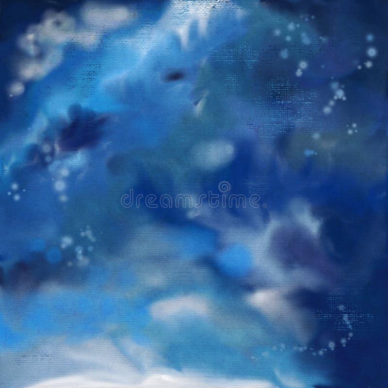 Dramatyczny nocne niebo obrazu tło royalty ilustracja