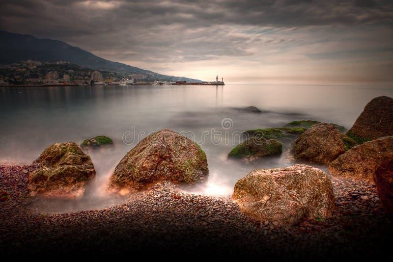 dramatyczny seascape zdjęcia royalty free