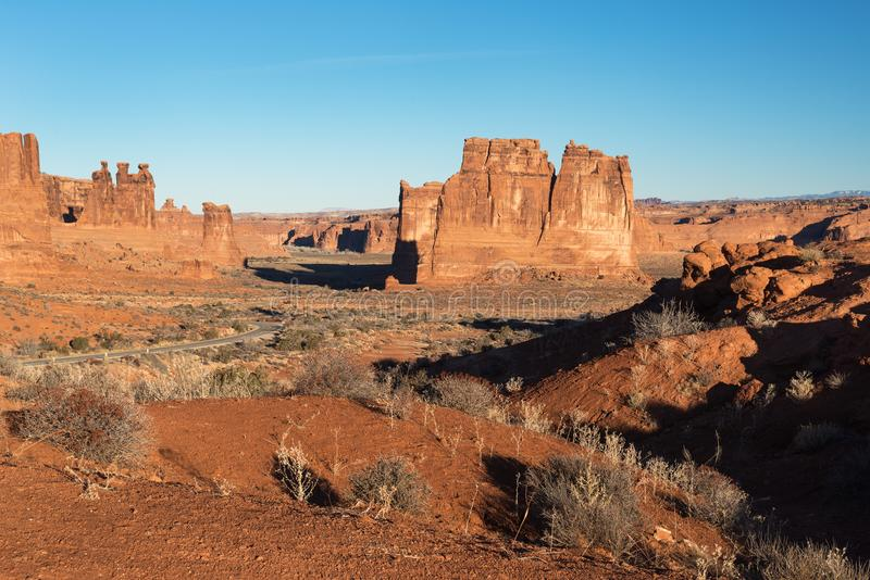 Dramatyczny widoku punkt łuku park narodowy Utah fotografia royalty free