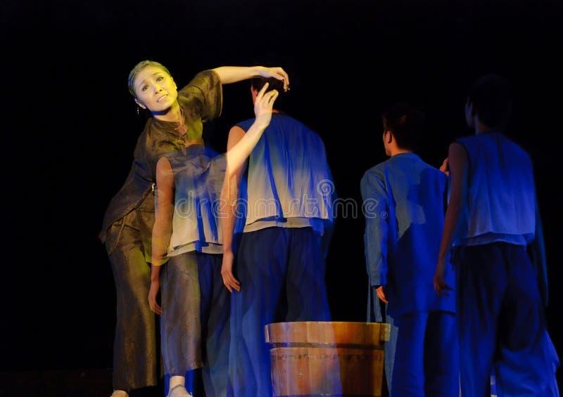Drame chino de la danza moderna   foto de archivo libre de regalías