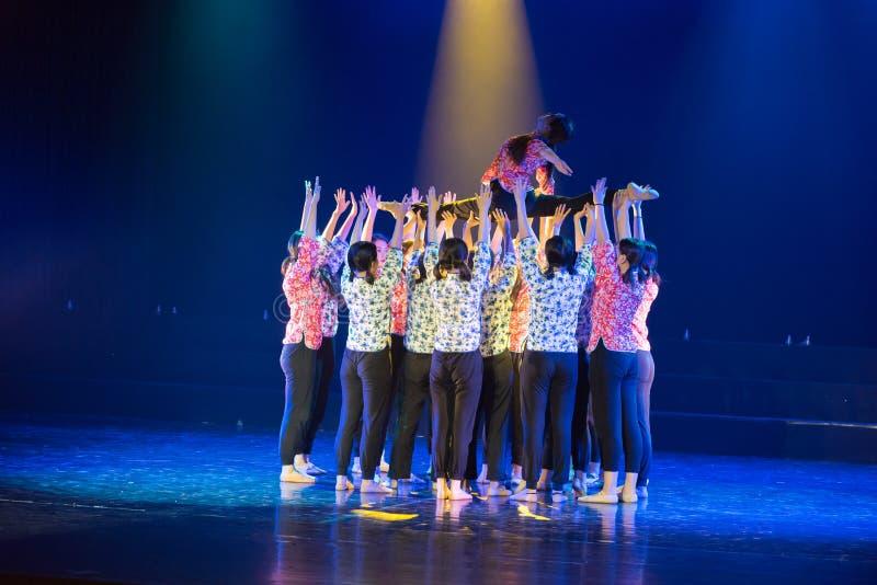 Drame collectif de danse de la force centripète 2-Lilac photo stock