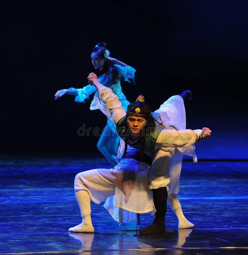 Dramma cinese di ballo del kungfu-The la leggenda degli eroi del condor fotografie stock