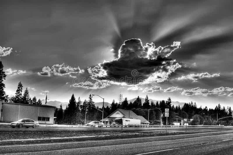 Dramma nel cielo fotografia stock