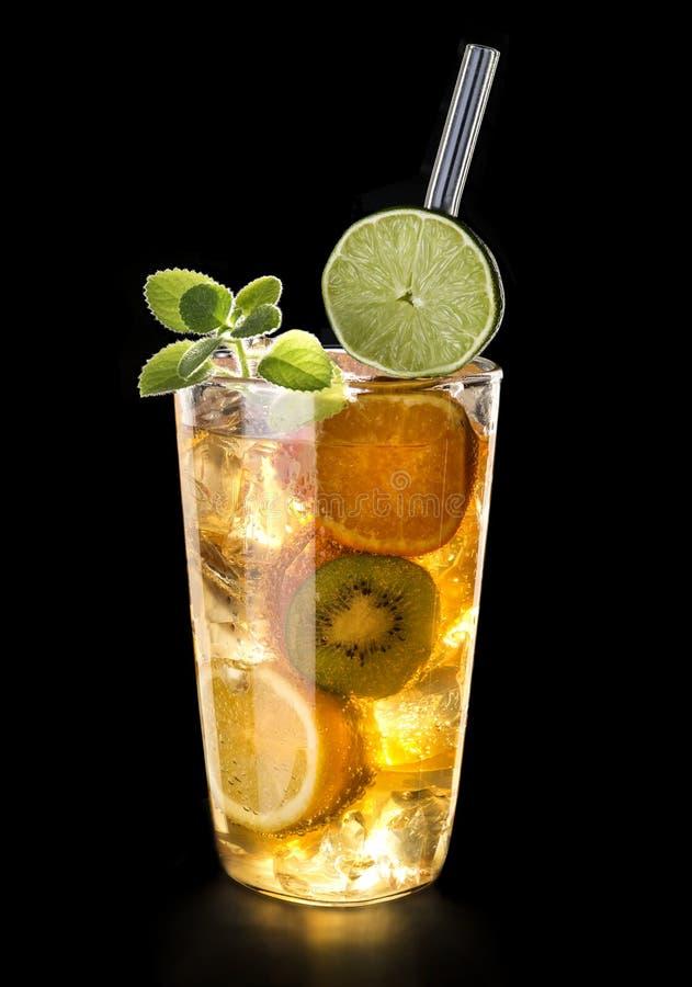 Drank met fruit royalty-vrije stock afbeeldingen