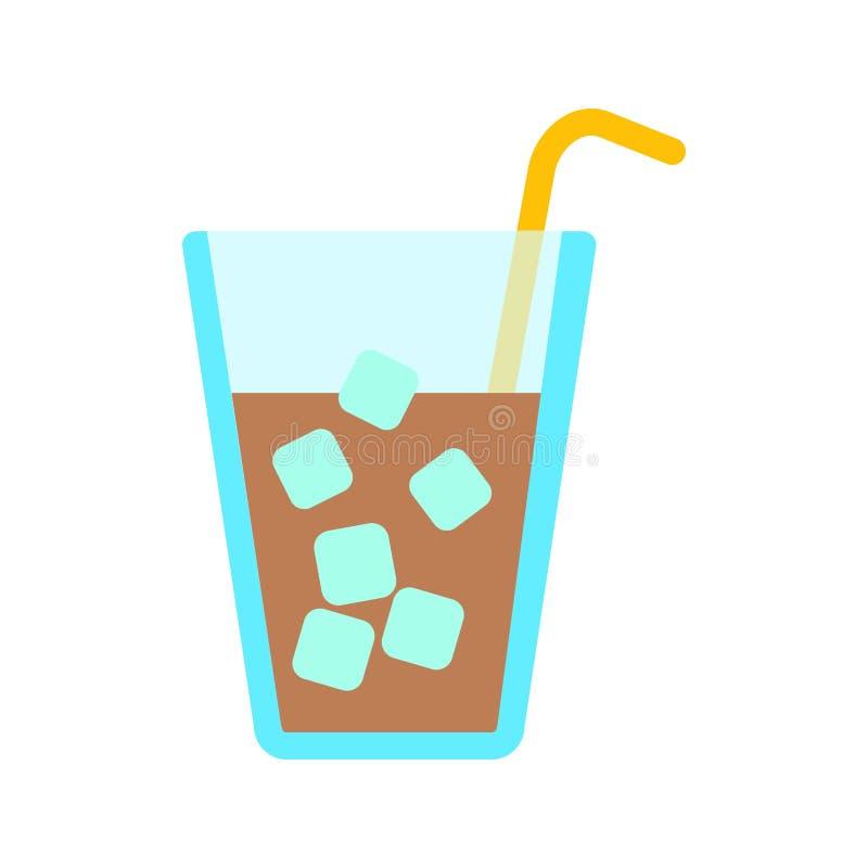 Drank met ijs vector illustratie
