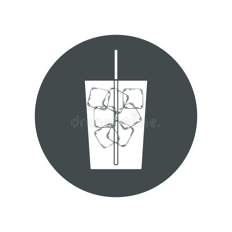 Drank met ijsblokjes royalty-vrije illustratie