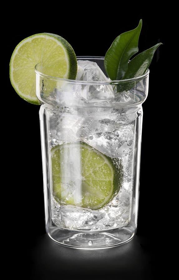 Drank met lemo royalty-vrije stock fotografie