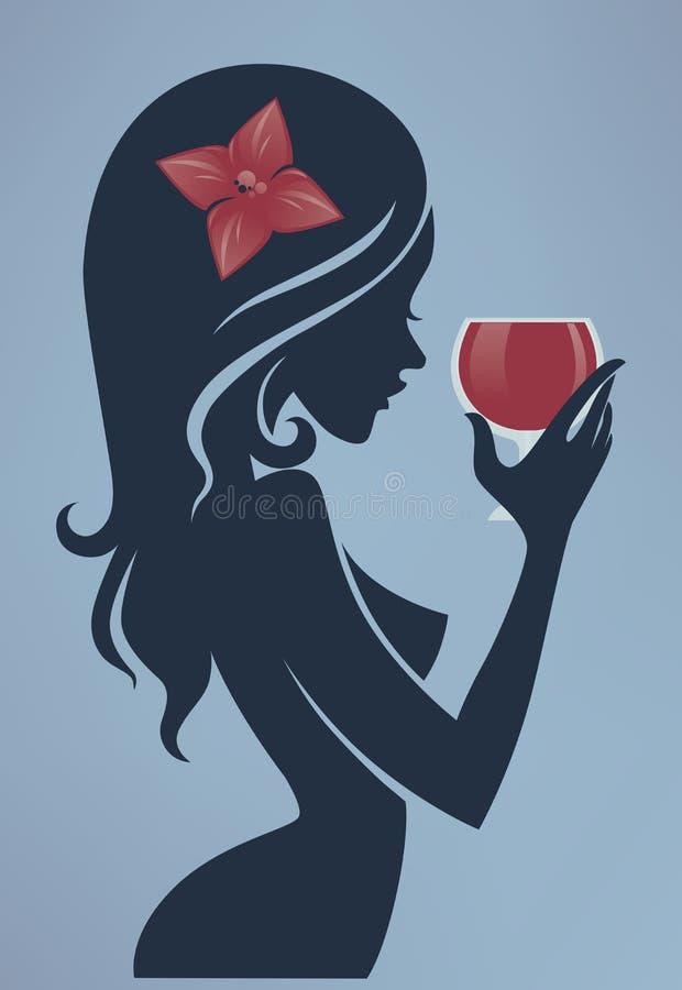 Drank met me vector illustratie