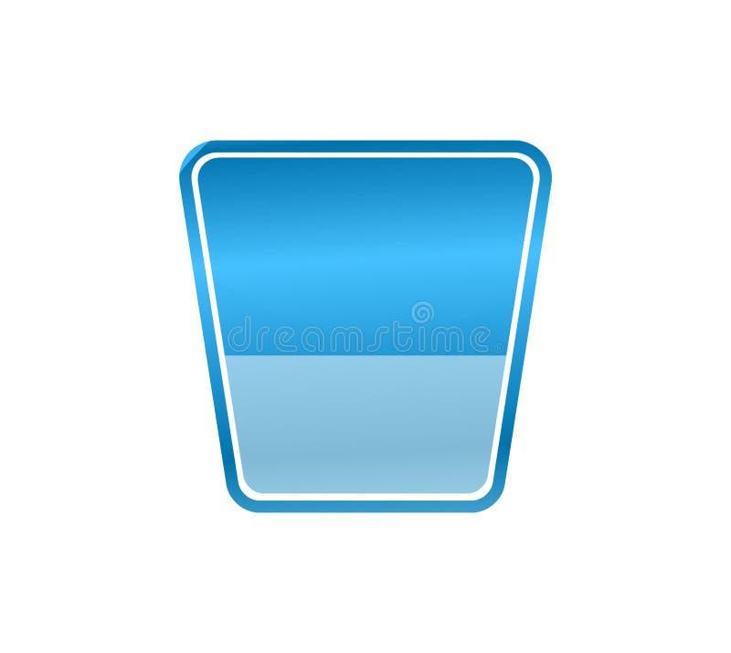 Drankconcept dat door glaspictogram wordt vertegenwoordigd op witte achtergrond stock illustratie