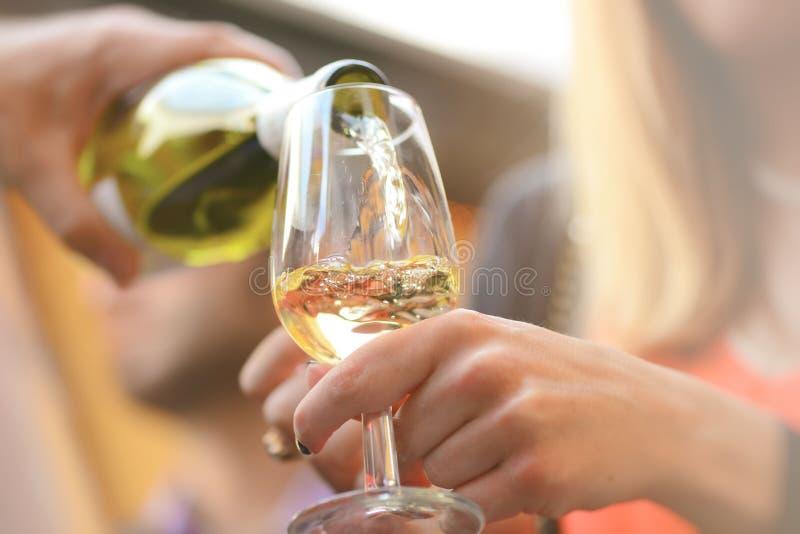 Dranken met glazen wijn stock foto's