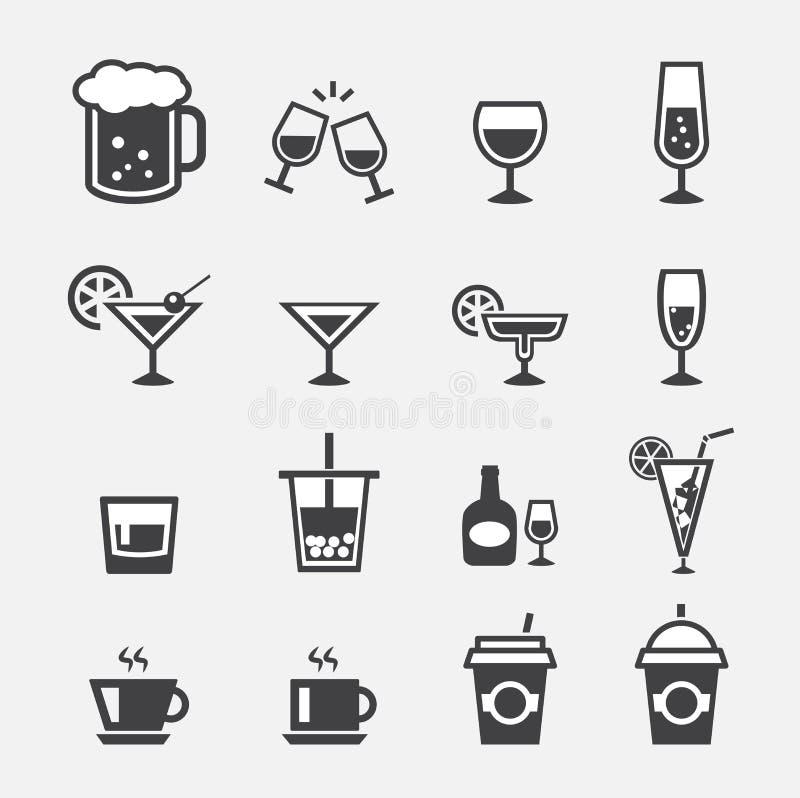 Drankpictogram stock illustratie