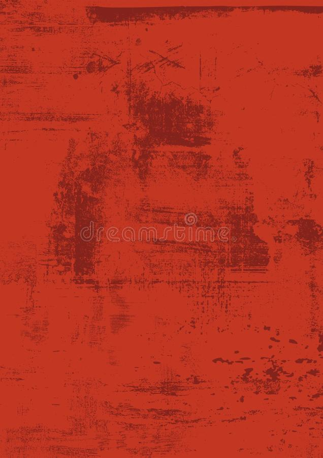 Drapa Grunge Miastowego zmrok - czerwie?, br?z, o?niedzia?y t?o Cierpienie tekstura dla tw?j projekta Wektorowy Miastowy t?o Po p royalty ilustracja