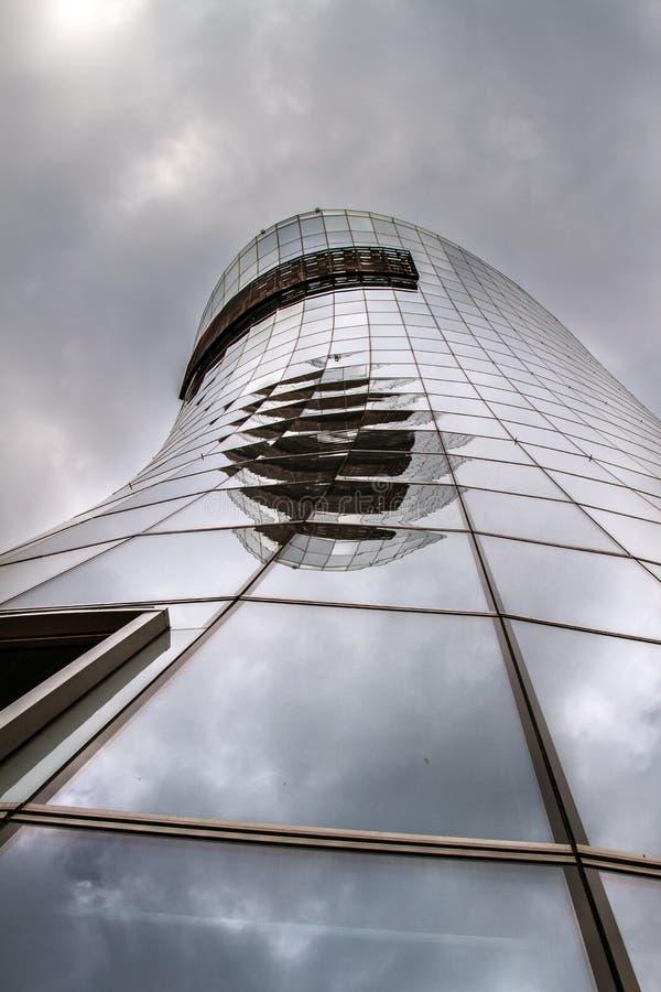 Drapacz chmur szkło i metal nowożytny obraz stock