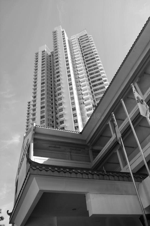 Drapacz chmur w Singapur mieście zdjęcie royalty free