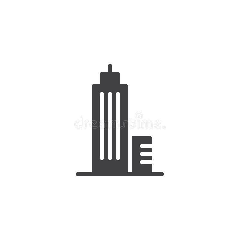 Download Drapacza Chmur Budynku Budowy Ikony Wektor Ilustracja Wektor - Ilustracja złożonej z bryła, logo: 106919869
