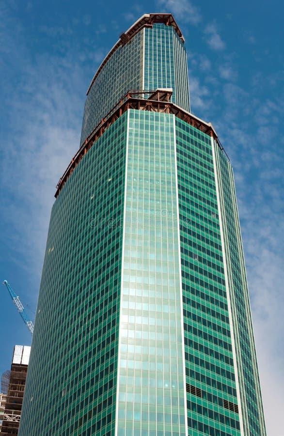 Drapacza chmur centrum biznesu Moskwa miasto, Rosja obraz royalty free