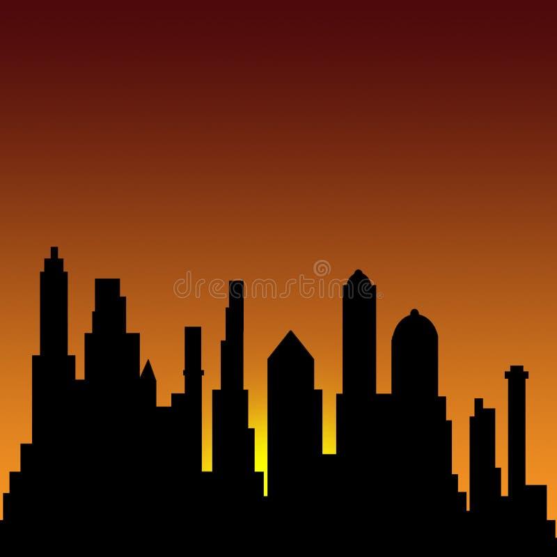 Download Drapacze chmur ilustracji. Ilustracja złożonej z tło, city - 128440