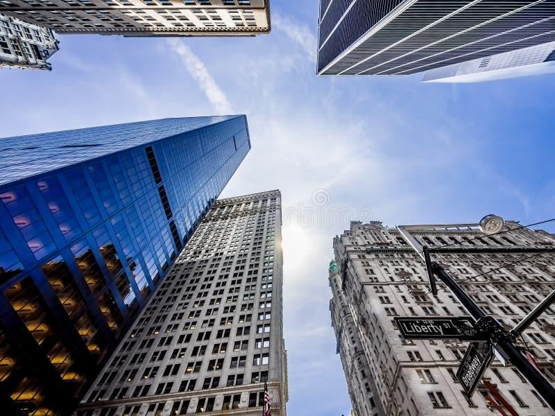 Drapacze chmur, budynki w Miasto Nowy Jork/ zdjęcia stock