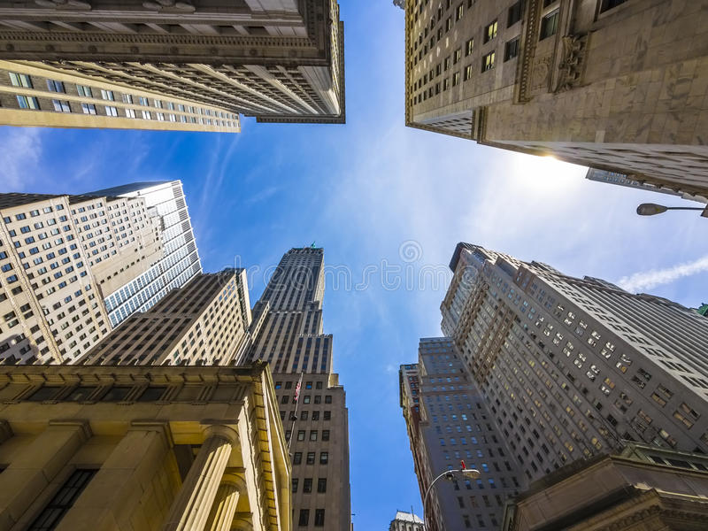 Drapacze chmur, budynki w Miasto Nowy Jork/ zdjęcia royalty free