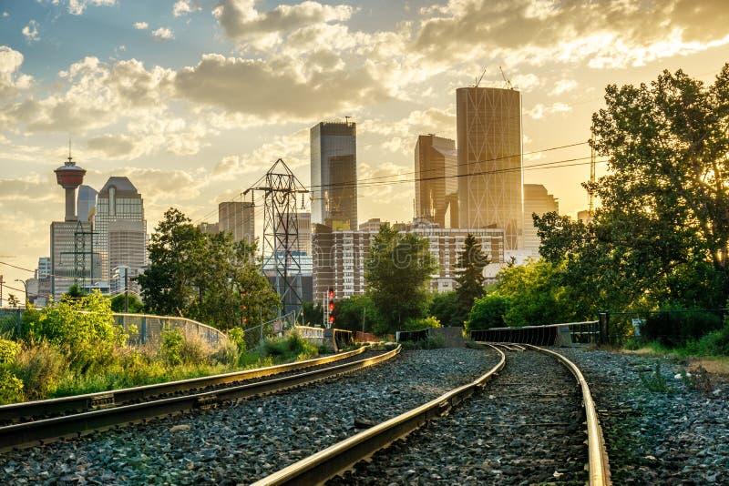 Drapacze chmur w Calgary, Alberta, Kanada obraz stock
