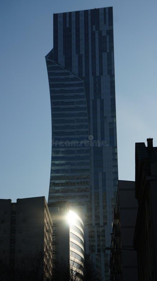 Download Drapacze Chmur W Centrum Miasta Warszawa Zdjęcie Stock Editorial - Obraz złożonej z polska, wysoki: 106908583