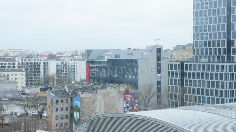 Download Drapacze Chmur W Centrum Miasta Warszawa Obraz Editorial - Obraz złożonej z chmury, polska: 106908630