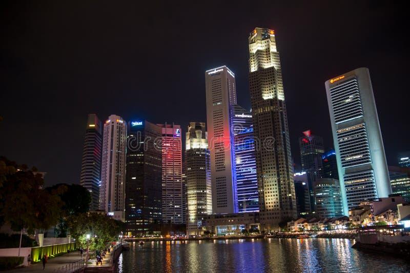 Drapacze chmur W centrum sedno, Singapur obrazy stock