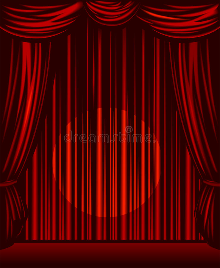 Download Drape stock vector. Illustration of opulent, auditorium - 18479374