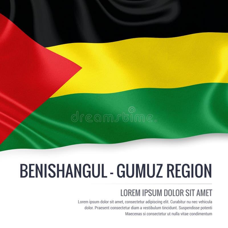 Drapeau éthiopien de région de Benishangul-Gumuz d'état illustration de vecteur