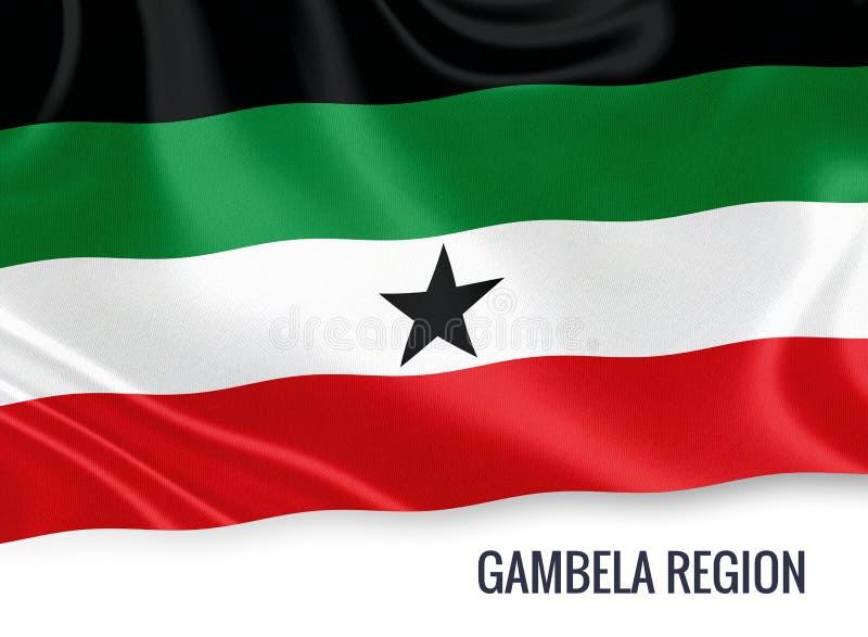 Drapeau éthiopien de région de Gambela d'état illustration stock
