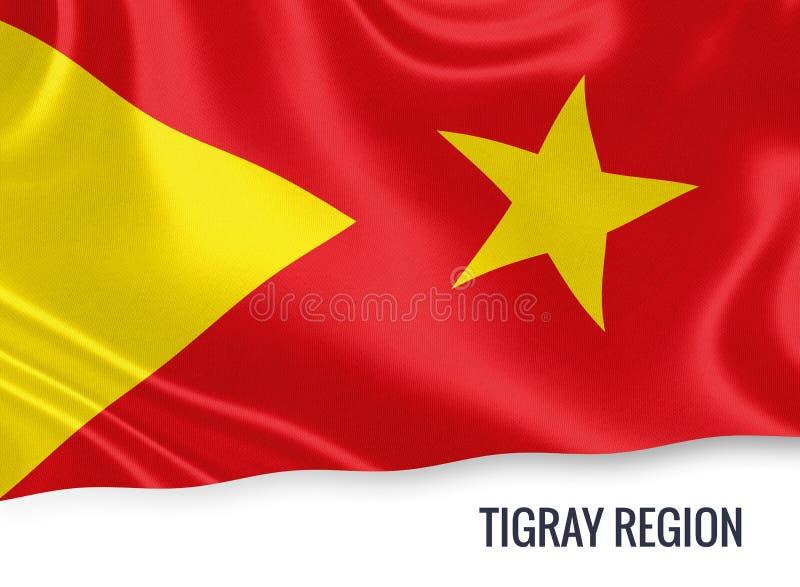 Drapeau éthiopien de région de Tigray d'état illustration stock