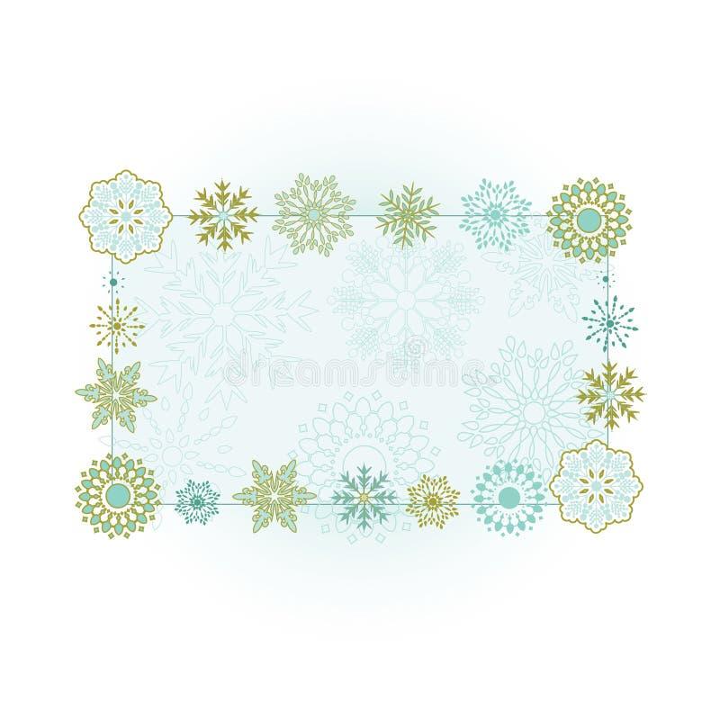 Drapeau 2 de flocon de neige illustration stock