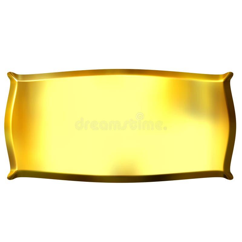 drapeau 3D d'or illustration de vecteur