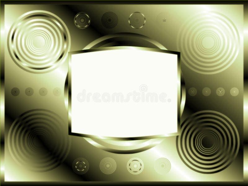 Drapeau abstrait avec des cercles illustration libre de droits