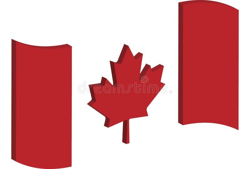 Drapeau abstrait de Canada photo libre de droits