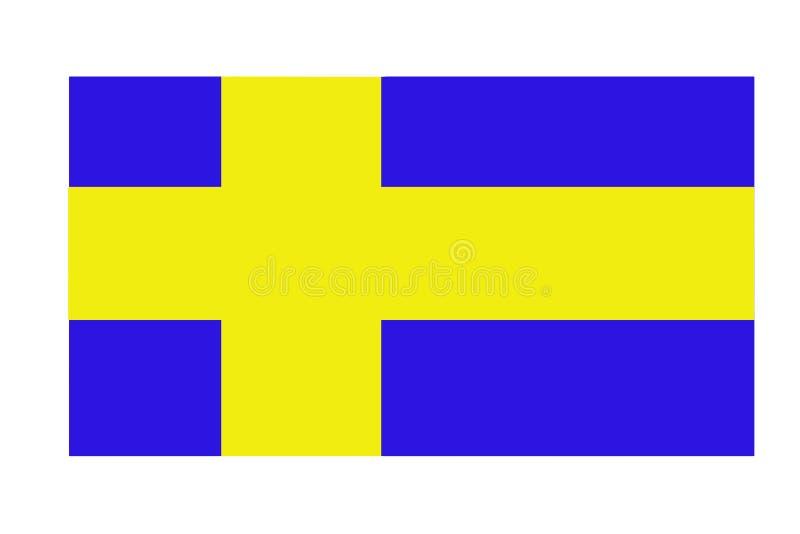 Drapeau abstrait de tissu sale coloré de plan rapproché de la Suède illustration de vecteur