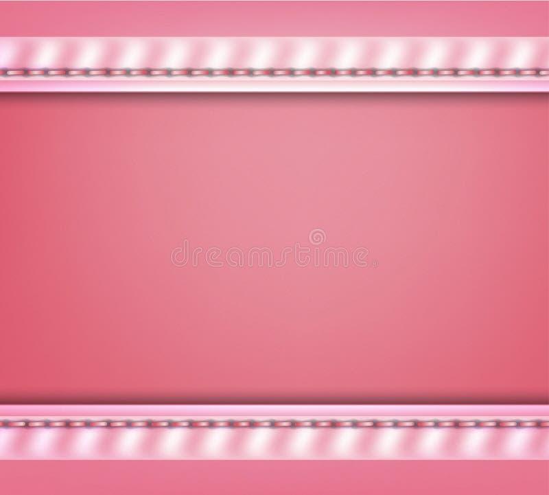 Drapeau abstrait rose illustration libre de droits