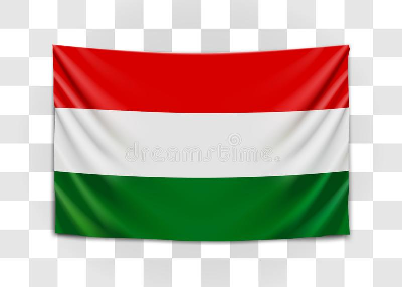 Drapeau accrochant de la Hongrie hungary Concept hongrois de drapeau national illustration de vecteur