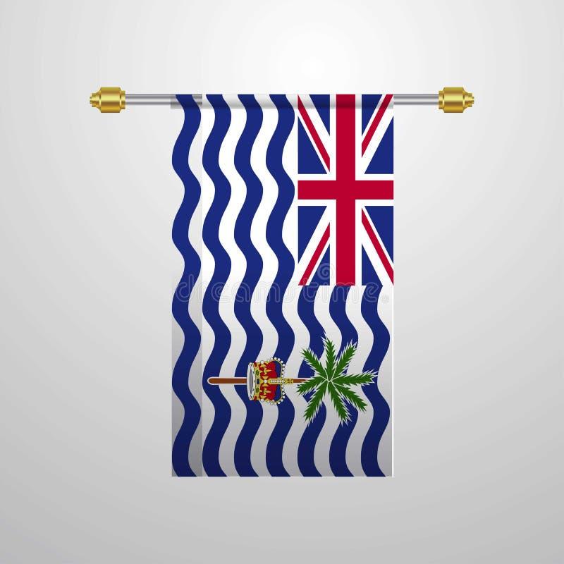 Drapeau accrochant de territoire d'Océan Indien britannique illustration libre de droits