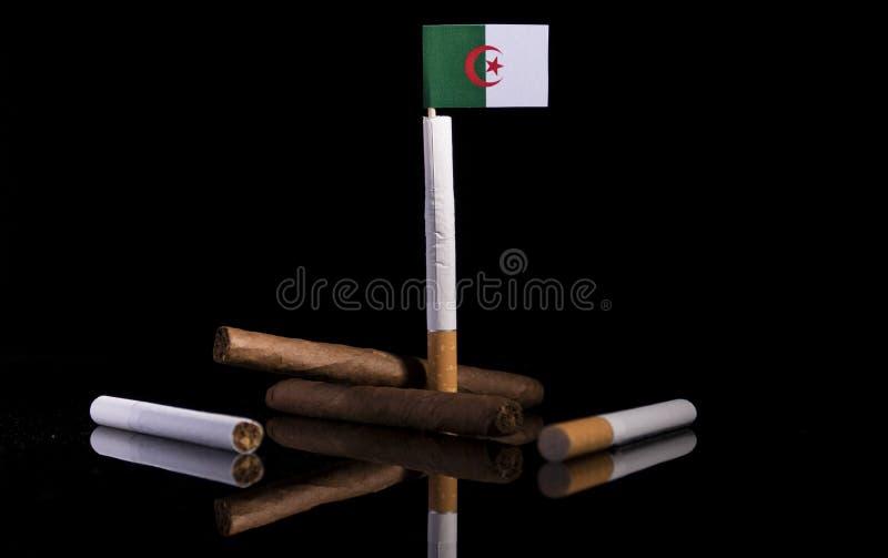 Drapeau algérien avec des cigarettes et des cigares Industrie du tabac images libres de droits