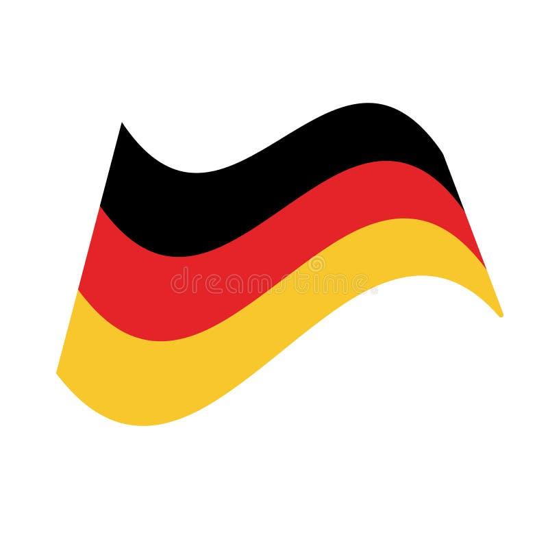 Drapeau allemand ou drapeau de l'Allemagne illustration stock