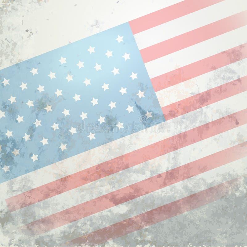 Drapeau américain illustration libre de droits