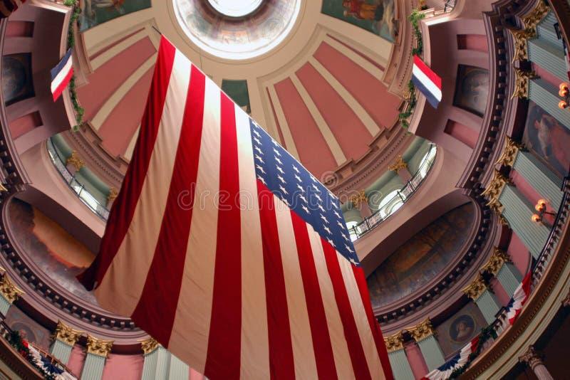 Drapeau américain image libre de droits