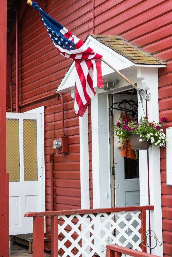 Drapeau américain americana patriotique image libre de droits