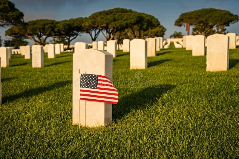 Drapeau américain au marqueur grave des solider photos libres de droits